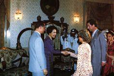 1988-02-04 Diana and Charles are granted an audience with King Bhumibol Adulyadej (Rama IX) and Queen Sirikit at Chitralada Royal Villa, their Bangkok residence