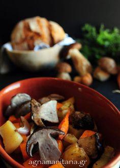 Μανιτάρια_με_κίτρινη_κολοκύθα_4 Wild Mushrooms, Stuffed Mushrooms, Pot Roast, Food Styling, Ethnic Recipes, Greek, Fat, Cooking, Kitchens