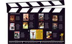 Faire part Cinéma Passion Acteur film Mariage Création sur mesure /// Wedding invitation by http://www.latelierdelsa.com/fr/6-faire-part-mariage-sur-mesure