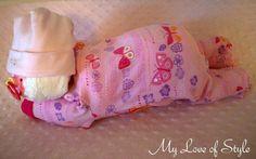 DIY Sleeping Baby Diaper Cake