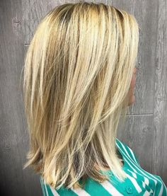 Medium-To-Long+Layered+Blonde+Hairstyle with V cut layers. Low maintenance for s… Medium-To-Long+Layered+Blonde+Hairstyle with V cut layers. Low maintenance for straight hair V Cut Layers, Medium Length Hair Cuts With Layers, Medium Hair Cuts, Straight Hair With Layers, Blond Medium Length Hair, Blonde Straight Hair, Medium Straight Hair, Hair Layers, Medium Layered Haircuts