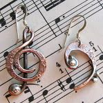 Treble Clef and Bass Clef Earrings ($25/pair?)