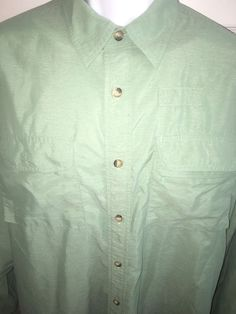 Orvis Large Fishing Shirt Vented Green Nylon Poly Blend Long Sleeve | eBay