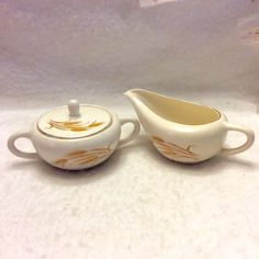 A personal favorite from my Etsy shop https://www.etsy.com/listing/278845538/1950s-yellow-wheat-design-sugar-bowl-and
