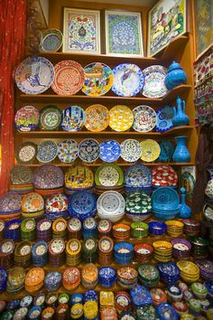 plates in the grand bazaar, istanbul, turkey