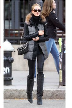 Cold weather style by Rosie Huntington-Whiteley