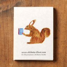 Mini memo pad (squirrel) by Keiko Shibata