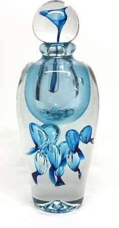Jean Claude Novaro Hand Blown Glass Vase Extra Large Perfume Bottle   eBay