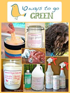 10 Ways to Go Green...there are some great ideas here with recipes for cleaning products and even printables!
