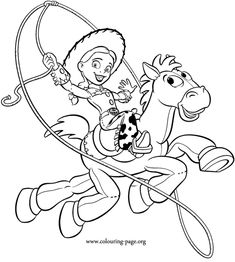 Website for this image  Jessie and Bullseye - Toy Story coloring page.  colouring-page.org  Full-size image  700×779 (1.3x larger), 54KB  More sizes  Search by image  Similar images  Type:GIF  Images may be subject to copyright.