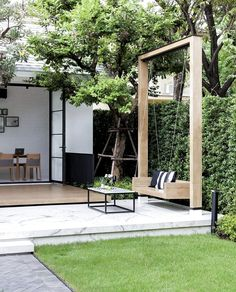 Best Small Backyard Landscape Design Ideas For Your Garden Mainly designed for entertainment purposes and for extended living areas, backyard landscaping designs can be as detailed as needed to … Cozy Backyard, Backyard Patio Designs, Small Backyard Landscaping, Landscaping Ideas, Backyard Playground, Narrow Backyard Ideas, Backyard Decorations, Luxury Landscaping, Back Gardens