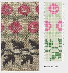 Knitting: Jacquard or Fair Isle – knitting charts Fair Isle Knitting Patterns, Knitting Stiches, Knitting Charts, Knitting Designs, Knit Patterns, Knitting Projects, Stitch Patterns, Free Knitting, Kids Knitting