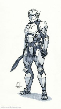 Inktober Day 12 (Captain Bannon) by Tekka-Croe