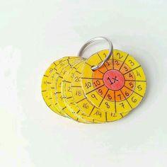 Scheiben fürs kleine Einmaleins - am Schlüsselbund immer dabei :) #Mathematik #Grundschule