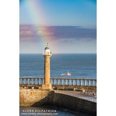 A Beautiful full Rainbow over Whitby recently. the Pot of gold seems to be in the lighthouse.  #whitby #rainbow #yorkshire #oneyorkshire #scenesofyorkshire #welcometoyorkshire