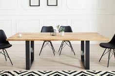 Jedálenský stôl WOTANA 180 cm - čierna