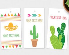 Custom Tags - Printable Gift & Favor Tags, Your Text Added
