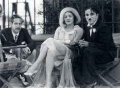Director Josef Von Sternberg and Marlene Dietrich visit Charles Chaplin on the…