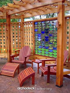 Stain Glass in Trellis Fence, West Des Moines - Design Ideas - Archadeck
