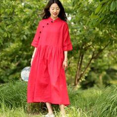 Linen Dresses, Cotton Dresses, Casual Dresses, Fashion Dresses, Fashion Top, Casual Outfits, Floral Plus Size Dresses, Long Summer Dresses, Cotton Tunics