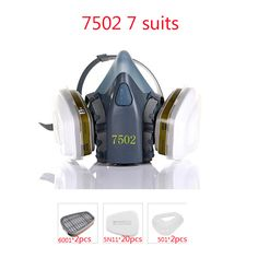 Industrial safety 7502 7Suits Respirator Gas Mask Chemical Mask Spray Chemical Dust Filter Breathe Mask Paint Dust Half Gas Mask