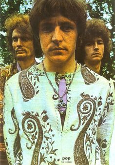 Cream--L-R back row: Ginger Baker, Eric Clapton, Jack Bruce in front