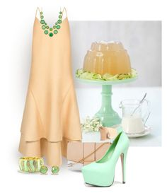 """2nd Birthday Series 2/5 ~ Jelly... Pale Orange & Mint"" by maryv-1 ❤ liked on Polyvore featuring C/MEO COLLECTIVE, Kardashian Kollection, Kiss Kouture, Neola and Natasha Accessories"