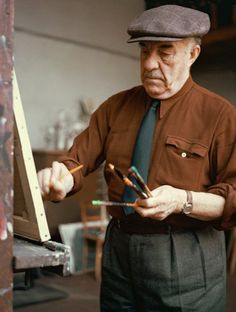 Fernand Léger in his studio 1965