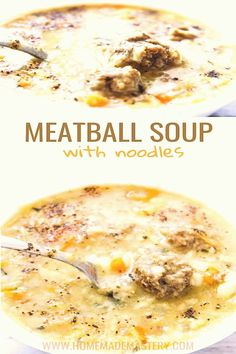 #Meatballs #easy #dinner #lunch This easy meatball soup with noodles is a filling and delicious soup recipe that is great for lunch and dinnerbrp classfirstletterHelloWelcome to our siteScroll down for other meatballs easy forceful subjectpCharacteristic of The Pin Easy Meatball Soup With Noodles  Homemade Mastery This easy meatball soup with noodles is a fillinbrThe pin registered in the Delicious board is selected from among the pins with high piece quality and suitable for use in… Lunch Recipes, Crockpot Recipes, Soup Recipes, Easy Recipes, Dinner Recipes, Meatball Soup, Meatball Recipes, Crock Pot Soup, Slow Cooker Soup