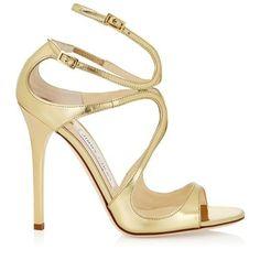 Sandali in pelle oro Jimmy Choo