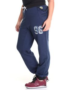 Find Varsity Sport Drop Crotch Slouch Jogger (Plus) Women's Bottoms from Lady Enyce & more at DrJays. on Drjays.com
