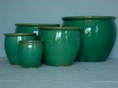 X Large Round Green Glazed Ceramic Planter Also Available In The Following Sizes 20 5