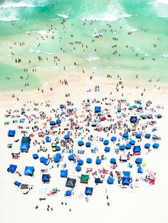 2 | Beach Crowds Are Beautiful From 5,000 Feet In The Air | Co.Design | business + design