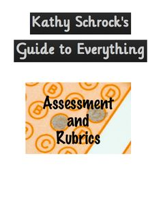 Assessment and rubric resources