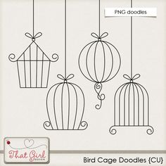 Birdcage printable to stitch