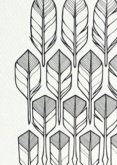 original drawing 'flight' feathers and arrows in by lightboxing, £24.00