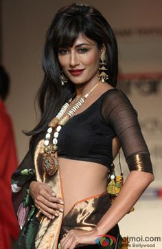 Chitrangada Singh in a lovely black saree