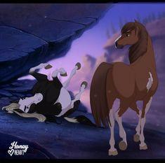 Horse Cartoon Drawing, Horse Drawings, Cute Animal Drawings, Cartoon Drawings, Spirit Horse Movie, Spirit The Horse, Spirit And Rain, Spirit Drawing, Horse Animation