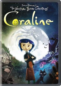 """From the Director of The Nightmare Before Christmas comes a visually stunning stop-motion animated feature! Coraline Jones is bored in her new home until she finds a secret door that leads her into a world that's just like her own…but better! But when this fantastical adventure turns dangerous and her """"other"""" Mother tr"""