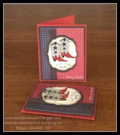 Stampin' in the Sand: Cajun Boots. Stampin up bootiful occasions stamp set boot. cowboy. card making