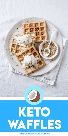 Who says you cant have waffles for breakfast when on keto? My Keto Waffles is a dream come true for anyone whos on a keto diet. They always come out fluffy and crispy on the edges and the best things is its still a low carb low sugar goodness! Keto Diet Breakfast, Breakfast Recipes, Breakfast Ideas, Brunch Ideas, Brunch Recipes, Sugar Free Recipes, Low Carb Recipes, Easy Recipes, Keto Waffle
