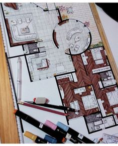 - Interior Design I (One Credit) (c) Knowledge and skills. The student applies the concepts and skills of the industry to simulated work situations. The student is expected to: (F) print and plot architectural interior drawings for presentation. Interior Architecture Drawing, Interior Design Renderings, Drawing Interior, Interior Rendering, Interior Sketch, Interior Concept, Architecture Portfolio, Architecture Design, Industrial Architecture
