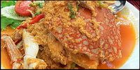 :: Thai Food DB : Thai Cuisine : - Stir-Fried Crab Meat with Curry Power [Poo Pad Pong Ka-Ree]