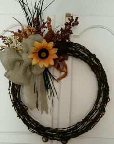 39 trendy rustic door wreaths barbed wire 39 trendy rustic door wreaths barbed wireYou can find Barbed wire and more on our trendy rustic door wreaths barbed wire 39 tre. Barbed Wire Decor, Barbed Wire Wreath, Wreath Crafts, Diy Wreath, Door Wreaths, Cowboy Crafts, Western Crafts, Horseshoe Crafts, Horseshoe Art