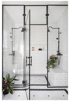 Bad Inspiration, Bathroom Inspiration, Interior Exterior, Bathroom Interior Design, 1920s Interior Design, Bathroom Designs, Exterior Design, Interior Styling, Interior Decorating