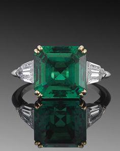 antique emerald, fred leighton.