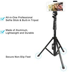 e4a96bdf1c709c pangshi Selfie Stick Tripod 51 Extendable Selfie Stick with Wireless Remote  and Phone Clamp Holder Clip for iPhone X/iPhone Plus/iPhone Plus/Galaxy ...