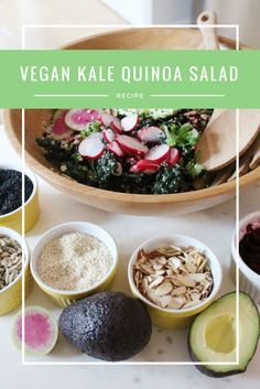 One of my favorite San Francisco lunch spots makes the most amazing vegan kale salad and I've been wanting to make a dupe of it for ages…