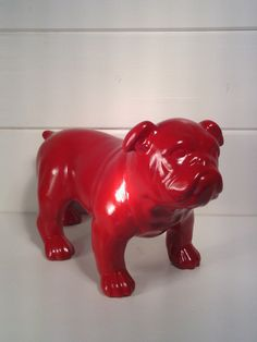 Bulldog / bulldog statue / Georgia bulldogs / red by NotTheJoneses, $26.00
