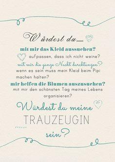 Weiteres - Postkarte Brautjungfer, Hochzeit, Trauzeugin - ein Designerstück von Herzpost bei DaWanda